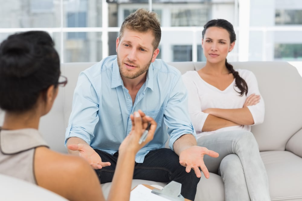 Couple at counselling session