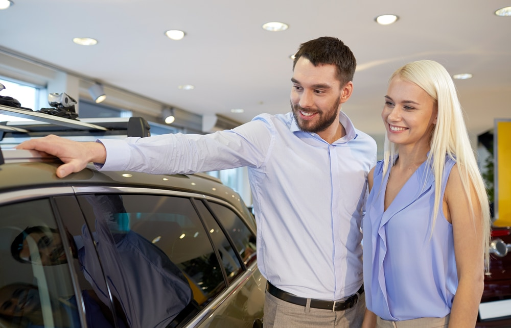 Couple buying car
