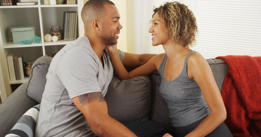 Couple having conversation