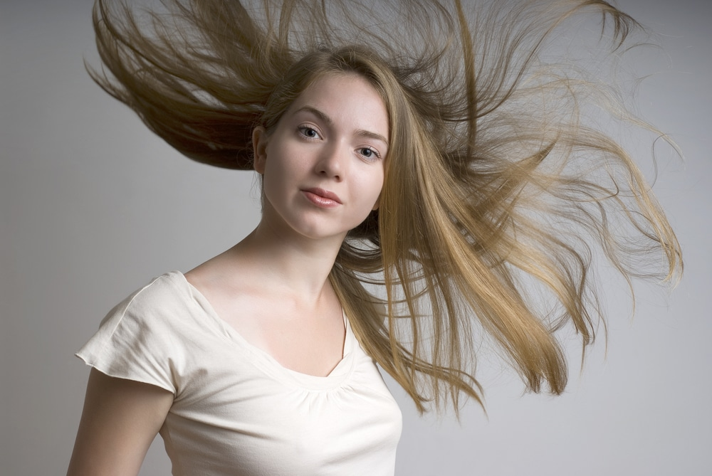 Flipping hair