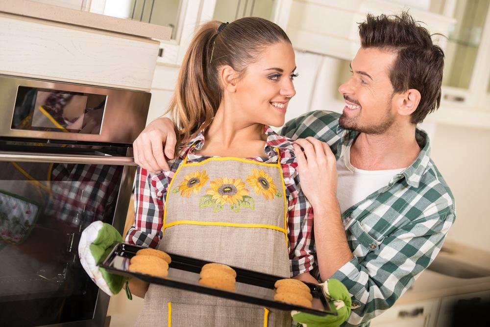 Wife baking