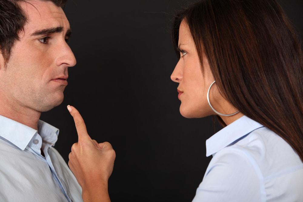 Wife blaming husband