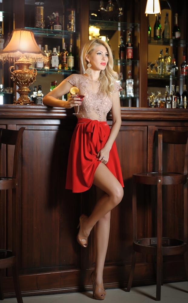 Woman showing legs