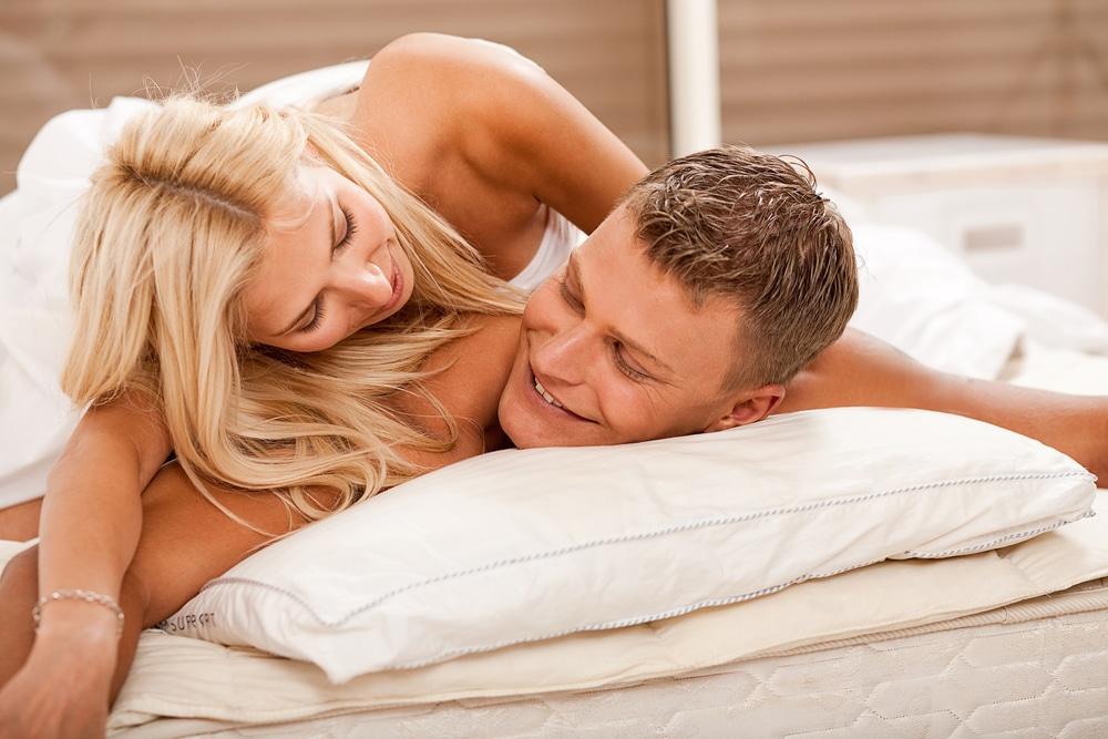 Wife encouraging husband