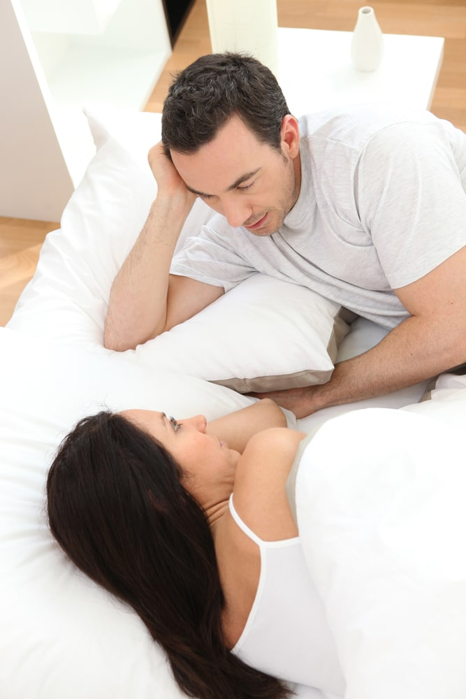 woman being honest with husband