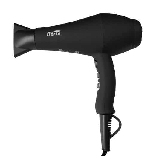 Berta Professional Hair Dryer 1875W Negative Ions Hair Blow Dryer Far Infrared