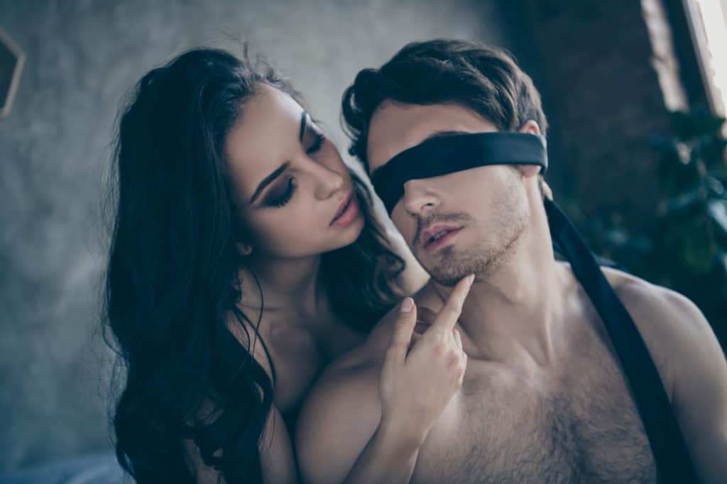 Blindfold each other