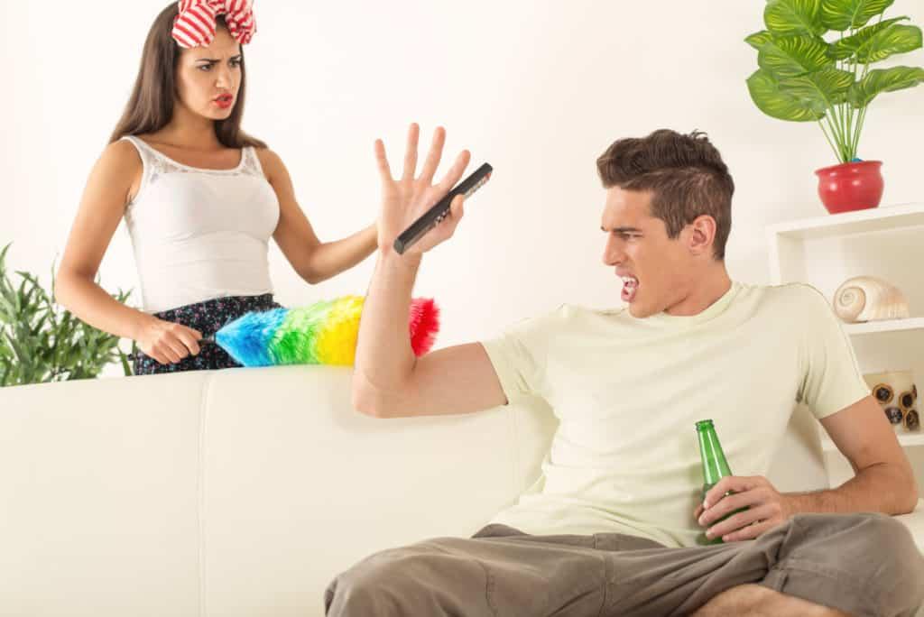 Couple Arguing Husband Drinking