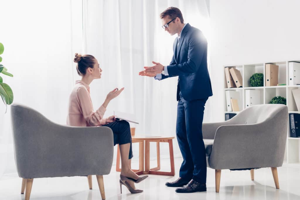 Husband Angry At Wife Arguing