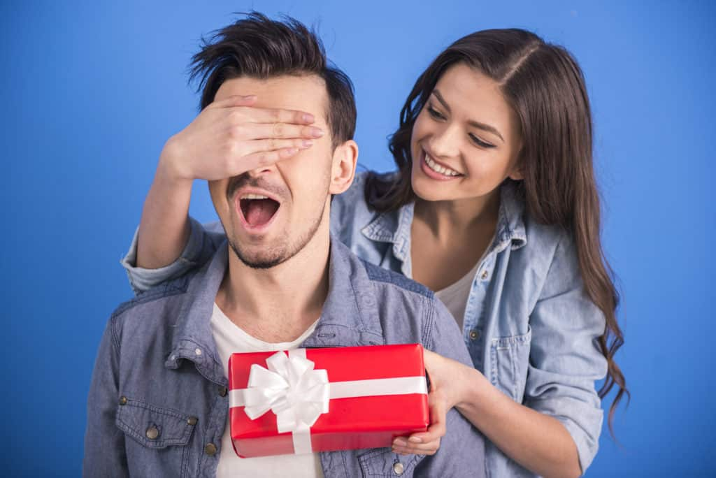 surprise him with thoughtful gifts