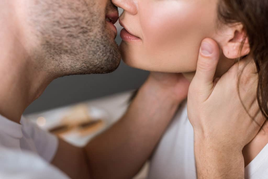 the kissing feels more intimate