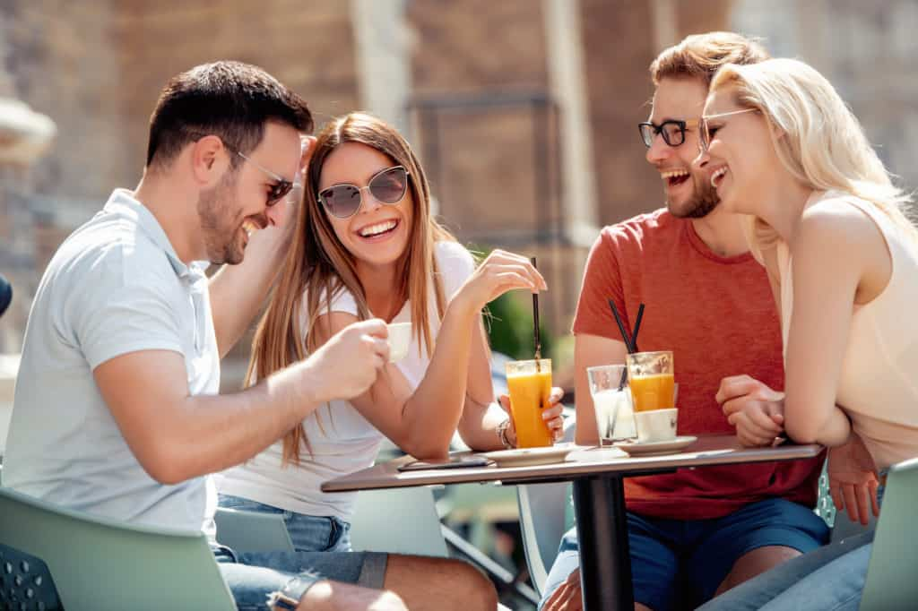 Make him attend fun hangout with friends