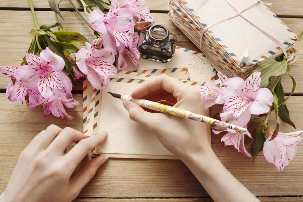 send him romantic poems or a love letter
